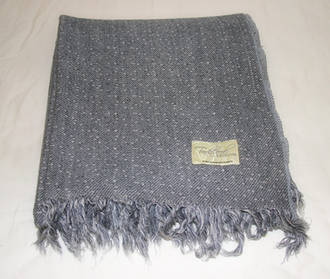 Pure Wool Throw - Grey with tassle