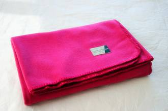 Cerise Wool Throw