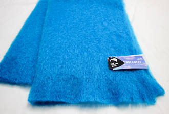 NZ Made Mohair Throw - Turquoise