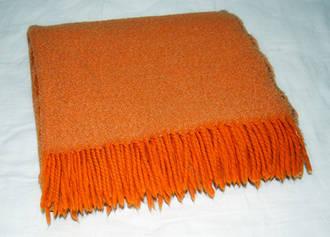 Boucle Wool Throw - Orange