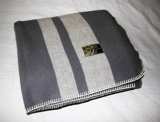 Pewter with Pewter Stripe - Blanket Stitch