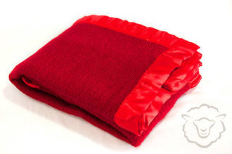 Merino Thermacell Buggy Blanket - Scarlet