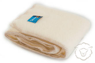 Ivory Blanket with blanket sitch