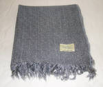 Pure Wool Throw - Grey with tassle
