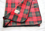 Tartan Woollen Throw - Royal Red