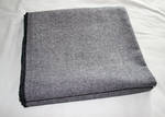 Frenchie Solid Weave Blanket - Navy Blue/Pewter