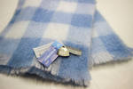 NZ Made Mohair Knee Rug - Sky Check