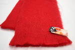 NZ Made Mohair Throw - Scarlet
