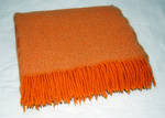 Boucle Wool Throw - Orange