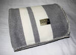 Pewter with Cream Stripe - Blanket Stitch