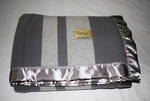 Merino Wool Buggy Blanket - Pewter with Pewter Stripe