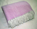 Luxury Herribone Wool Throw - Pink