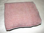 Super Soft Pure Wool Knee Rug - Pink With Blanket Stitch
