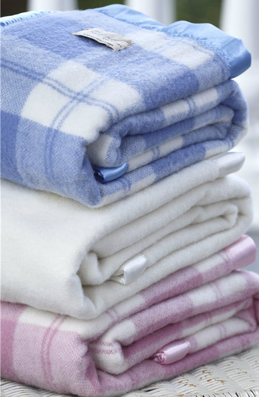 Traditional Merino Wool Blankets Baby Blankets New